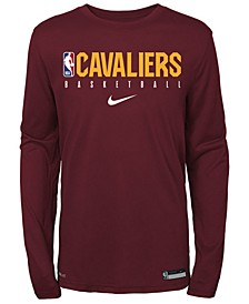 Big Boys Cleveland Cavaliers Practice Long Sleeve T-Shirt
