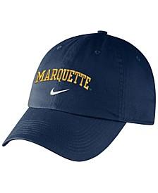 Marquette Golden Eagles Heritage 86 Wordmark Swoosh Strapback Cap