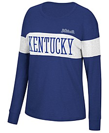 Women's Kentucky Wildcats Colorblocked Long Sleeve T-Shirt