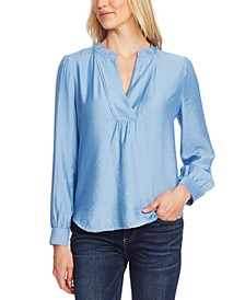Rumple Split-Neck Blouse
