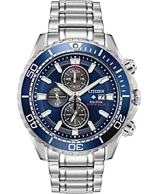 Eco-Drive Men's Chronograph Promaster Diver Stainless Steel Bracelet Watch 46mm