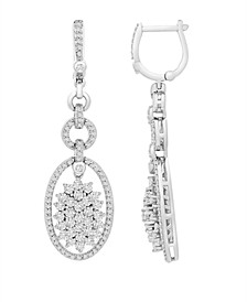 Diamond (2 ct. t.w.) Link Drop Earrings in 14K White Gold