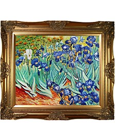 "by Overstockart Irises by Vincent Van Gogh with Victorian Frame Oil Painting Wall Art, 32"" x 28"""
