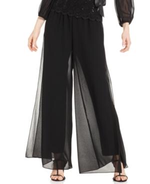 Retro Pants & Jeans Alex Evenings Wide-Leg Chiffon Pants $69.00 AT vintagedancer.com