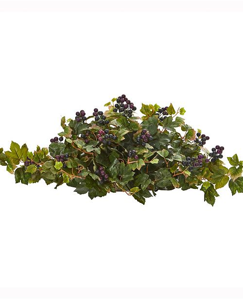 Nearly Natural 33in. Grape Leaf Artificial Ledge Plant