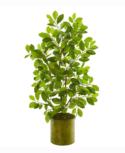 Nearly Natural 37in. Mini Ficus Artificial Tree in Green Planter