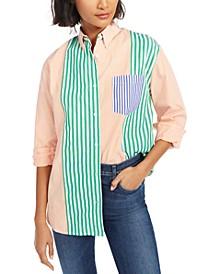 Adisa Striped Colorblocked Shirt