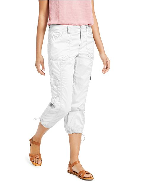 Style & Co Cargo Capri Pants, In Regular and Petite, Created for Macy's