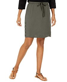 Drawstring Tencel Skort, Created for Macy's