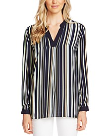 Waterlake Striped Split-Neck Tunic