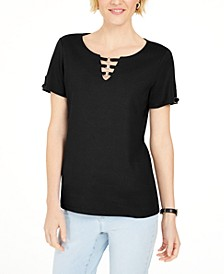 Triple-Ring Cutout Top, Created for Macy's