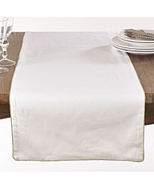 Luana Collection Metallic Trimmed Table Runner
