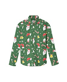 Big Boys Santa Boss Christmas Shirt
