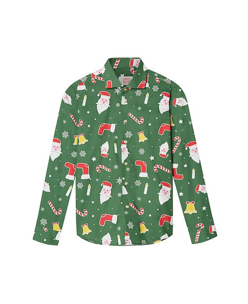 OppoSuits Big Boys Santa Boss Christmas Shirt