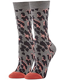 Women's Leopard-Print Trouser Socks
