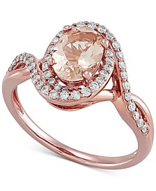 Morganite (1-1/20 ct. t.w.) & Diamond (1/3 ct. t.w.) Ring in 10k Rose Gold