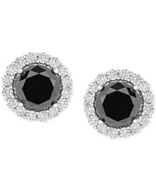 Diamond Halo Stud Earrings (2 ct. t.w.) in 14k White Gold, Created for Macy's