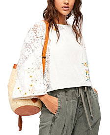Free People Paris Picnic Patchwork Top