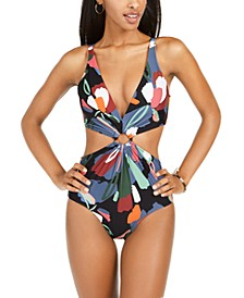 Printed One-Piece Monokini Swimsuit, Created for Macy's