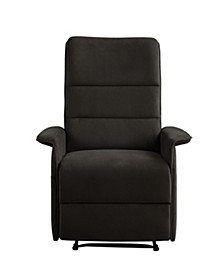 Irving Multi Position Recliner, Side Pocket Microfiber Upholstery
