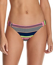 Juniors' Calafia Laguna Printed Indigo Bikini Bottoms