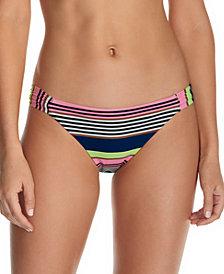 Raisins Juniors' Calafia Laguna Printed Indigo Bikini Bottoms