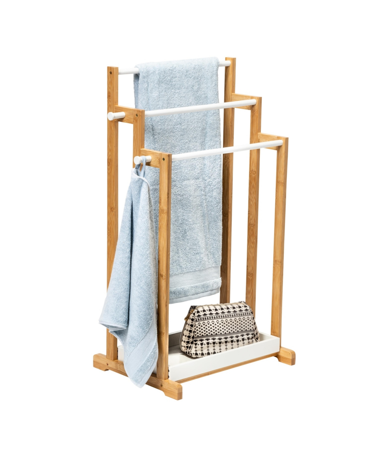 Honey Can Do 3-Tier Bamboo Bathroom Towel Rack