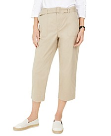 Cropped Twill Pants, Created for Macy's