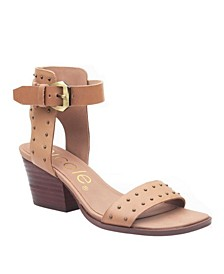 Amabel Double Strap Low-Heeled Sandal