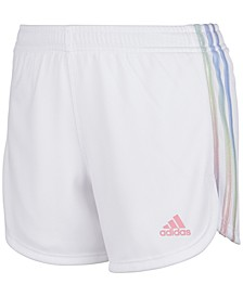 Big Girls Rainbow 3-Stripe Mesh Shorts