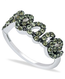 Peridot (1 ct. t.w.) 'Peace' Ring in Sterling Silver