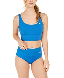 Essential Scoop-Neck Bikini Top & High-Waist Swim Bottoms