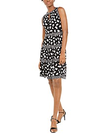 Mixed-Print Tiered Dress
