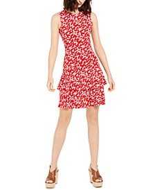 Printed Flounce Dress, Regular & Petite