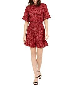 Printed Flutter Fit & Flare Dress