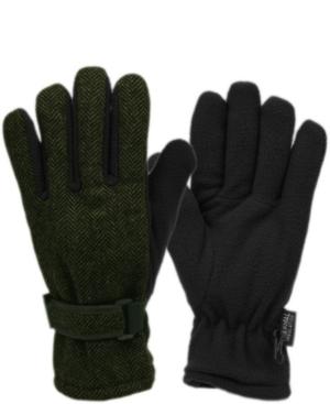 Herringbone Wool Blend Glove