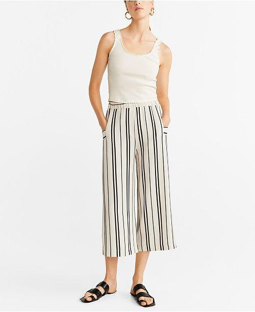 MANGO Striped Culottes