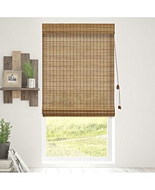 Bamboo Roman Shades, Natural Woven Wood Privacy Window Blind