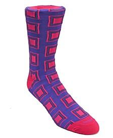Men's Square Design Dress Sock