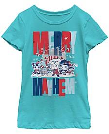 DC Comic's Big Girl's Kawaii Merry Mayhem Short Sleeve T-Shirt