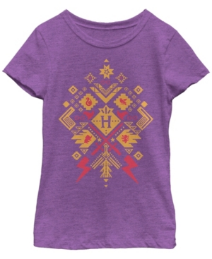 Fifth Sun Harry Potter Big Girl's The Deathly Hallows Whimsical Witch Girls Short Sleeve T-Shirt