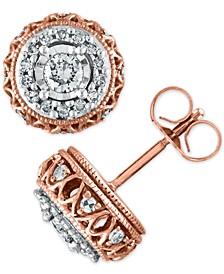 Diamond 3/8 ct. t.w. Earring in 10K Rose Gold