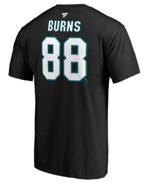 Men's Brent Burns San Jose Sharks Authentic Stack Name & Number T-Shirt