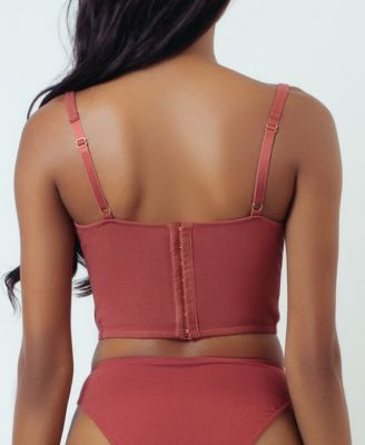 Fully Boned Hook /& Eye Back Closure Lingerie! Beautiful Pink Underwire Bustier