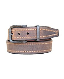 Men's Bronx Oil Tanned Harness Leather Casual Jean Belt
