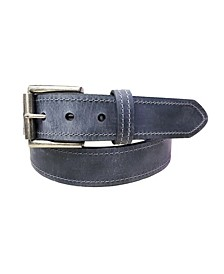 Men's Tracker Distressed Crazy Horse Leather Casual Work Jean Belt