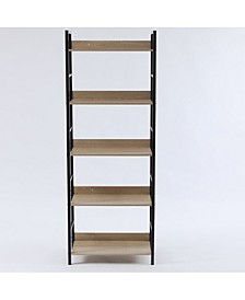 """Wood and Metal 63"""" Height 5-Tier Etagere"""
