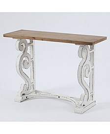 Wood Rustic Vintage-Inspired Console And Entry Table