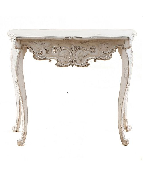Luxen Home Wood Vintage-Inspired Console And Entry Table
