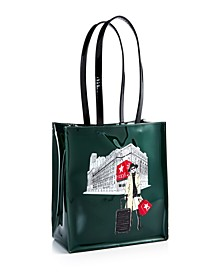 Rongrong Girl Graphic Large Tote Bag